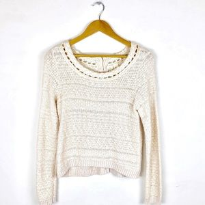 Moth Anthropologie Button Back Sweater